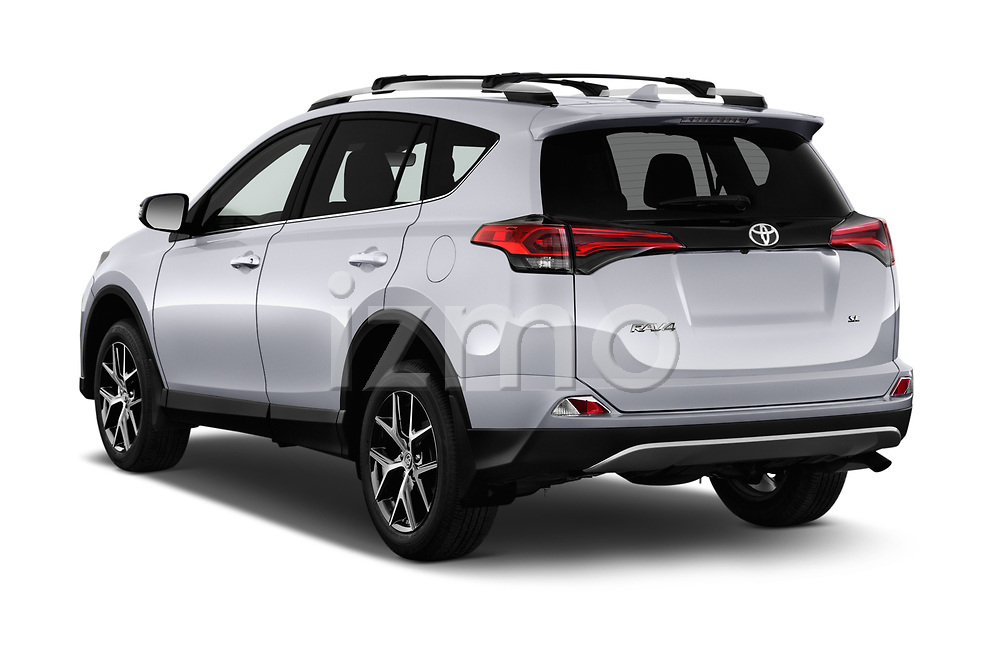 Car pictures of rear three quarter view of 2016 Toyota RAV4 SE 5 Door SUV Angular Rear