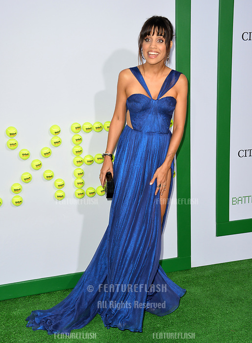 Natalie Morales at the premiere for &quot;Battle of the Sexes&quot; at the Regency Village Theatre, Westwood, Los Angeles, USA 16 September  2017<br /> Picture: Paul Smith/Featureflash/SilverHub 0208 004 5359 sales@silverhubmedia.com