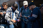 With the news that Hungary will possibly close its border on Wednesday to migrants a large crowd of migrants arrived at Kileti Train Station and boarded trains in Budapest, Hungary on Monday, Sunday, September 13, 20015. Photo/Victoria Sheridan