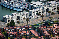 aerial photograph  Pier 3 Pier 5 San Francisco, California