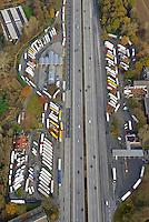 BAB Raststaette Sillhorn, LKW Parkplatz: EUROPA, DEUTSCHLAND, HAMBURG, (EUROPE, GERMANY), 19.11.2016: BAB Raststaette Sillhorn, LKW Parkplatz