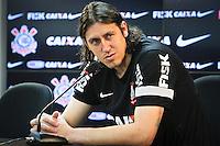 SÃO PAULO,SP,19 JULHO 2013 - TREINO CORINTHIANS -  O goleiro Cassio  durante entrevista coletiva   no CT Joaquim Grava na zona leste de Sao Paulo,na tarde desta sexta.FOTO ALE VIANNA - BRAZIL PHOTO PRESS.