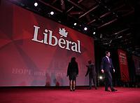 April 22 , 2014 -  Justin Trudeau,Leader,  Liberal Party of Canada deliver a Keynote Address at the 2014 Biennial Convention in Montreal. <br /> <br /> Justin Trudeau, chef du Parti liberal du Canada prononce son discour principal devant les delegue(e)s lors du  Congres biennal liberal a Montreal,  samedi le 22  fevrier 2014.<br /> <br /> Photo : (c) Pierre Roussel - Images Distribution