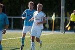 ALSBACH, GERMANY - SEPTEMBER 16: Verbandsliga match between FC Alsbach (white) and SG Anspach (turquoise) at FC Alsbach sports ground on September 16, 2012 in Alsbach, Germany. (Photo by Dirk Markgraf)