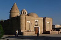 Chashma-Ayub Mausoleum, 12th to 16th century, Bukhara, Uzbekistan, seen at sunrise  on July 13, 2010. Bukhara, a city on the Silk Route is about 2500 years old. Its long history is displayed both through the impressive monuments and the overall town planning and architecture.