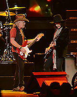 SUNRISE, FL - DECEMBER 09:  Brad Whitford and Joe Perry of Aerosmith perform at the BB&T Center on December 9, 2012 in Miami.  Credit: mpi04/MediaPunch Inc. /NortePhoto