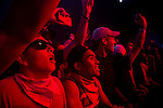 Fans watch Run the Jewels perform at Weekend 1 of the Coachella Valley Music and Arts Festival in Indio, California April 11, 2015. (Photo by Kendrick Brinson)