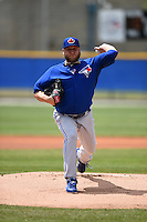 Toronto Blue Jays pitcher Mark Buehrle (56) during a minor league spring training game against the New York Yankees on March 24, 2015 at the Englebert Complex in Dunedin, Florida.  (Mike Janes/Four Seam Images)