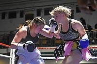 Kallia Kourani (The Pink Tyson) defeats Monika Antonic during a Boxing Show at York Hall on 14th April 2018