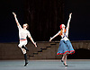 The Flames of Paris <br /> Bolshoi Ballet <br /> at The Royal Opera House, Covent Garden, London, Great Britain <br /> 5th August 2016 <br /> rehearsals<br /> <br /> Ekaterina Krysanova as Jeanne<br /> <br /> Igor Tsvirko as The Marquis Costa de Beauregard <br /> <br /> <br /> <br /> <br /> <br /> <br /> Photograph by Elliott Franks <br /> Image licensed to Elliott Franks Photography Services