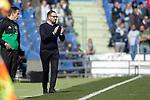 Getafe CF's coach Jose Bordalas during La Liga match. February 09,2019. (ALTERPHOTOS/Alconada)