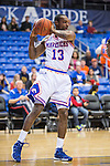 Texas-Arlington Mavericks forward Vincent Dillard (13) in action during the game between the Arkansas Little Rock Trojans and the Texas Arlington Mavericks at the College Park Center arena in Arlington, Texas. UALR defeats UTA 72 to 70.