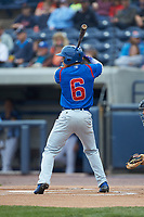 Jhonny Bethencourt (6) of the South Bend Cubs at bat against the West Michigan Whitecaps at Fifth Third Ballpark on June 10, 2018 in Comstock Park, Michigan. The Cubs defeated the Whitecaps 5-4.  (Brian Westerholt/Four Seam Images)