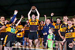 Austin Stacks Captain Sean Quilter lifts the Div 1 Lee Strand U16 County League cup