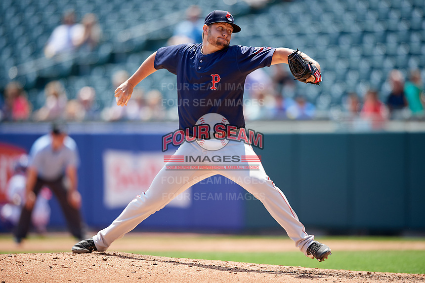 Pawtucket Red Sox relief pitcher Josh A. Smith (39) delivers a pitch during a game against the Buffalo Bisons on June 28, 2018 at Coca-Cola Field in Buffalo, New York.  Buffalo defeated Pawtucket 8-1.  (Mike Janes/Four Seam Images)