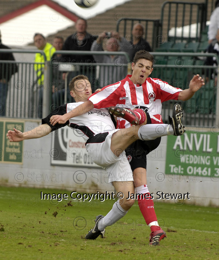 21/04/2007       Copyright Pic: James Stewart.File Name : sct_jspa28_gretna_v_clyde.JAMES GRADY CHALLENGES ROBERT HARRIS....James Stewart Photo Agency 19 Carronlea Drive, Falkirk. FK2 8DN      Vat Reg No. 607 6932 25.Office     : +44 (0)1324 570906     .Mobile   : +44 (0)7721 416997.Fax         : +44 (0)1324 570906.E-mail  :  jim@jspa.co.uk.If you require further information then contact Jim Stewart on any of the numbers above.........