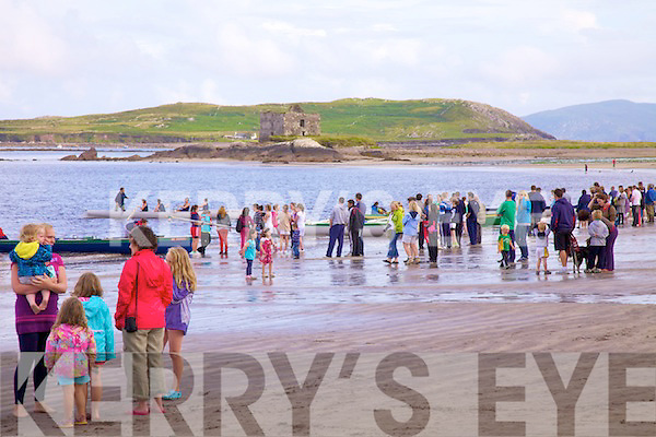 A large crowd gathered once again for the Ballinskelligs Regatta on Tuesday evening under better conditions with calm seas and good viability.