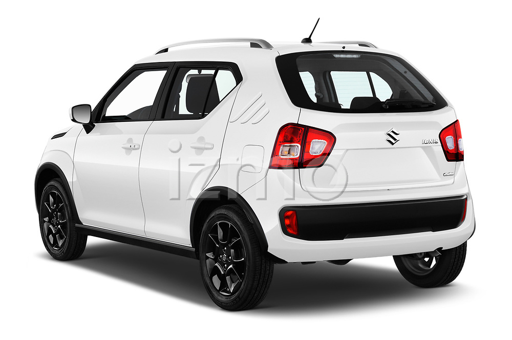 Car pictures of rear three quarter view of a 2018 Suzuki Ignis GLX 5 Door Hatchback angular rear