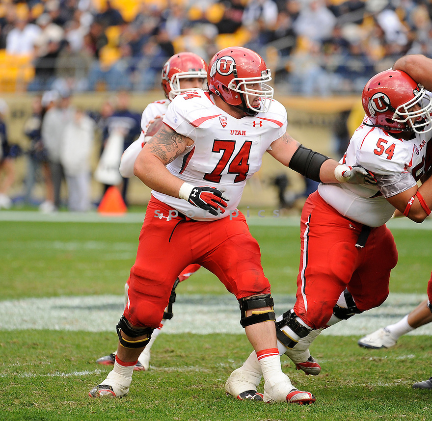 SAM BRENNER, of the Utah Utes, in action, during Utah's game against the Pittsburgh Panthers on October 15, 2011 at Heinz Field in Pittsburgh, PA. Utah beat Pitt 26-14.