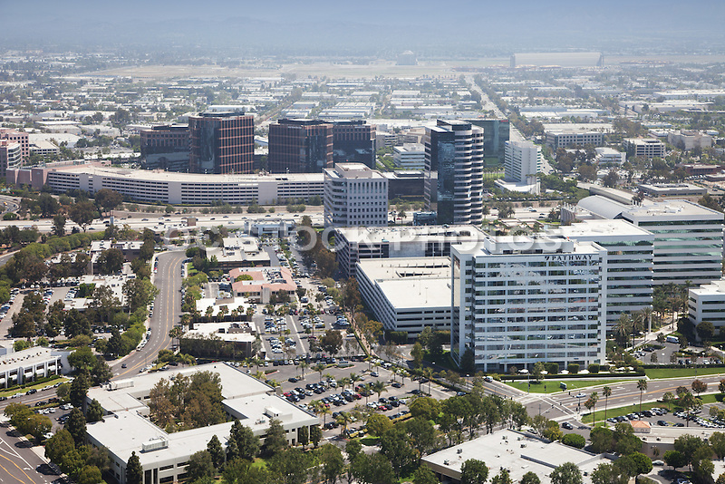 Aerial Photo of Business Buildings and Marine Corps Air Station in Irvine