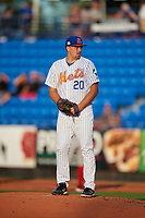 St. Lucie Mets starting pitcher Kyle Wilson (20) during a Florida State League game against the Florida Fire Frogs on April 12, 2019 at First Data Field in St. Lucie, Florida.  Florida defeated St. Lucie 10-7.  (Mike Janes/Four Seam Images)
