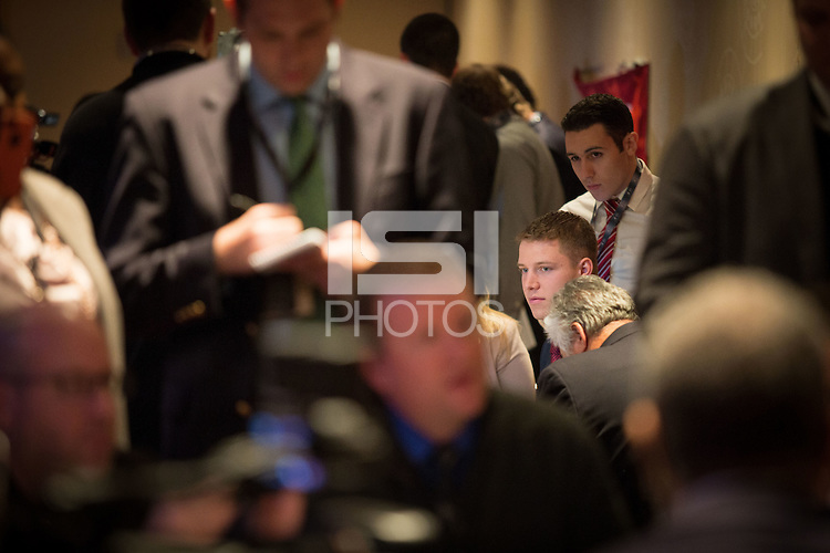 NEW YORK, NY - DECEMBER 12, 2015 - Stanford Running Back Christian McCaffrey, Heisman trophy candidate, 2015.