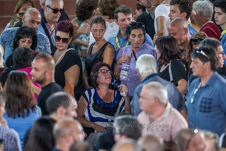 Funeral earthquake on PalaSport Monticelli in Ascoli Piceno  August 27, 2016, in Marche, Italy. Photo by Adamo Di Loreto