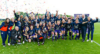 20180501 - TUBIZE , BELGIUM : Anderlecht's players pictured celebrating after winning the Championship after a 3-1 win after a womensoccer game between  RSC Anderlecht Dames and KRC Genk Ladies , during play-off 1 , at the Euro 2000 Center in Tubize , tuesday 1 st May 2018 . PHOTO SPORTPIX.BE | DAVID CATRY