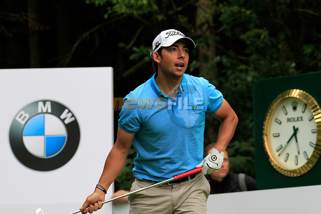 Pablo Larrazabal (ESP) tees off on the par3 17th hole during of Day 3 of the BMW International Open at Golf Club Munchen Eichenried, Germany, 25th June 2011 (Photo Eoin Clarke/www.golffile.ie)