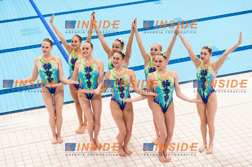 Team BLR<br /> London, Queen Elizabeth II Olympic Park Pool <br /> LEN 2016 European Aquatics Elite Championships <br /> Synchro<br /> Team technical final <br /> Day 01 09-05-2016<br /> Photo Giorgio Perottino/Deepbluemedia/Insidefoto