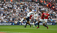 Tottenham Hotspur's Dele Alli scores his side's first goal  <br /> <br /> Photographer Rob Newell/CameraSport<br /> <br /> Emirates FA Cup - Emirates FA Cup Semi Final - Manchester United v Tottenham Hotspur - Saturday 21st April 2018 - Wembley Stadium - London<br />  <br /> World Copyright &copy; 2018 CameraSport. All rights reserved. 43 Linden Ave. Countesthorpe. Leicester. England. LE8 5PG - Tel: +44 (0) 116 277 4147 - admin@camerasport.com - www.camerasport.com