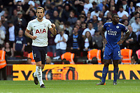 Harry Kane of Tottenham Hotspur celebrates scoring the fifth goal during Tottenham Hotspur vs Leicester City, Premier League Football at Wembley Stadium on 13th May 2018