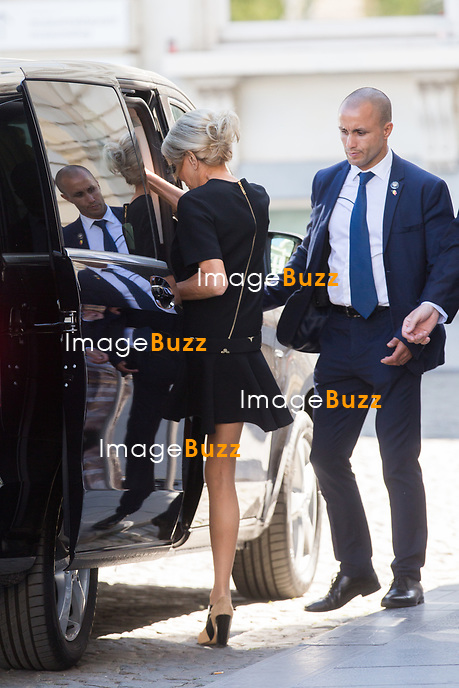 Brigitte Macron - Les conjoints des chefs d&rsquo;Etat et de gouvernement lors d'une visite du Mus&eacute;e Magritte &agrave; Bruxelles.<br /> Belgique, Bruxelles, 25 mai 2017.<br /> Brigitte Macron arrives for a visit of the First Ladies to the Magritte Museum in Brussels.<br /> Belgium, Brussels, 25 May 2017.