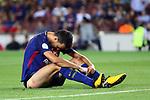 Supercopa de Espa&ntilde;a - Ida.<br /> FC Barcelona vs R. Madrid: 1-3.<br /> Sergio Busquets.