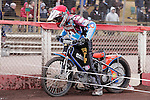 HEAT 10<br /> Peter Karlsson (Red), Kim Nilsson (Blue), Simon Gustafsson (White), Cameron Woodward (Yellow)<br /> LAKESIDE HAMMERS v EASTBOURNE EAGLES<br /> ELITE LEAGUE<br /> FRIDAY 29TH MARCH 2013<br /> ARENA ESSEX