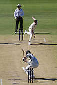 November 5th 2017, WACA Ground, Perth Australia; International cricket tour, Western Australia versus England, day 2;  England player James Anderson bowls a high ball to Western Warriors Clint Hinchcliffe