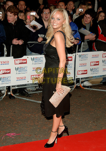 EMMA BUNTON.The Daily Mirror's Pride Of Britain Awards, London Television Studios, London, UK..November 6th, 2006.Ref: PL.full length black dress silver clutch purse.www.capitalpictures.com.sales@capitalpictures.com.©Phil Loftus/Capital Pictures