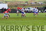 St Marys well in command of the game against St Michaels/Foilmore as Paul O'Donoghue looks for options in front of goal.