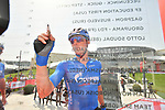 Gazprom-Rusvelo sign on before the start of Stage 2 of the 2019 UAE Tour, running 184km form Yas Island Yas Mall to Abu Dhabi Breakwater Big Flag, Abu Dhabi, United Arab Emirates. 25th February 2019.<br /> Picture: LaPresse/Massimo Paolone | Cyclefile<br /> <br /> <br /> All photos usage must carry mandatory copyright credit (© Cyclefile | LaPresse/Massimo Paolone)