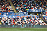 One of the stands with supporters during the Sky Bet Championship match between Swansea City and Rotherham United at the Liberty Stadium, Swansea, Wales, UK. Friday 19 April 2019