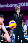 Kumi Nakada (JPN), <br /> SEPTEMBER 1, 2018 - Volleyball : <br /> Women's Bronze Medal match<br /> between Japan 1-2 Korea <br /> at Gelora Bung Karno Indoor Tennis Stadium <br /> during the 2018 Jakarta Palembang Asian Games <br /> in Jakarta, Indonesia. <br /> (Photo by Naoki Nishimura/AFLO SPORT)