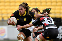 Janet Taumoli of Wellington in action during the Farah Palmer Cup - Wellington Pride v Counties Heat at Westpac Stadium, Wellington, New Zealand on Sunday 15 September 2019. <br /> Photo by Masanori Udagawa <br /> www.photowellington.photoshelter.com