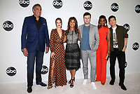 BEVERLY HILLS, CA - August 7: Brad Garrett, Channing Dungey, Leighton Meester, Jake Choi, Skye P. Marshall, Kimrie Lewis-Davis, at Disney ABC Television Hosts TCA Summer Press Tour at The Beverly Hilton Hotel in Beverly Hills, California on August 7, 2018. <br /> CAP/MPI/FS<br /> &copy;FS/MPI/Capital Pictures
