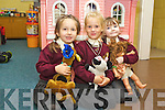 Klaudia Rutkowski, Olivia Pasierb and Lexi Hennessy pictured on their first day of school at Holy Family  national school, Tralee on Friday.