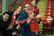 12th September 2017, Oakwell, Barnsley, England; Carabao Cup, second round, Barnsley versus Derby County; Barnsley fans celebrating their win
