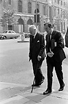 Harold Macmillan, and ????? 1970s Whitehall London Uk.<br />