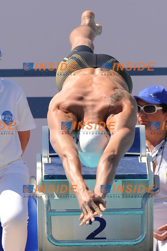 Camille Lacourt France<br /> 100m Freestyle Men<br /> Roma 15/6/2013 Piscina del Foro Italico <br /> Nuoto 50mo trofeo Settecolli<br /> Settecolli 50th International swimming trophy <br /> Foto Antonietta Baldassarre Insidefoto