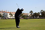 Paul Lawrie (SCO) plays his 2nd shot into the 18th green on the last hole of the Final Day Sunday of the Open de Andalucia de Golf at Parador Golf Club Malaga 27th March 2011. (Photo Eoin Clarke/Golffile 2011)