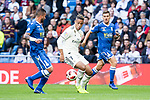 Real Madrid Mariano Diaz and U.D. Melilla Pepe and Mahanan during King's Cup match between Real Madrid and U.D. Melilla at Santiago Bernabeu Stadium in Madrid, Spain. December 06, 2018. (ALTERPHOTOS/Borja B.Hojas)