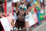 Pierre Latour (FRA) AG2R crosses the finish line at the end of Stage 5 of La Vuelta 2019 running 170.7km from L'Eliana to Observatorio Astrofisico de Javalambre, Spain. 28th August 2019.<br /> Picture: Colin Flockton | Cyclefile<br /> <br /> All photos usage must carry mandatory copyright credit (© Cyclefile | Colin Flockton)